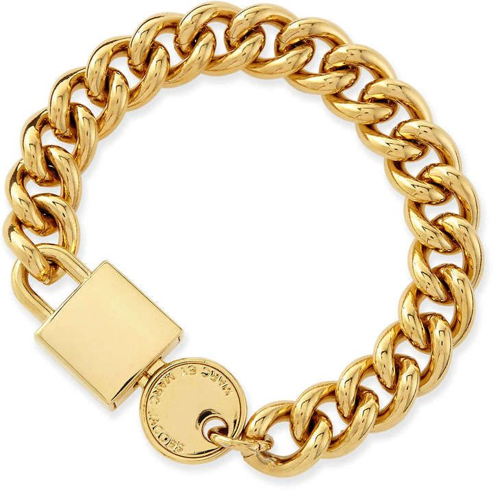 MARC by Marc Jacobs Lock-In Golden Statement Bracelet