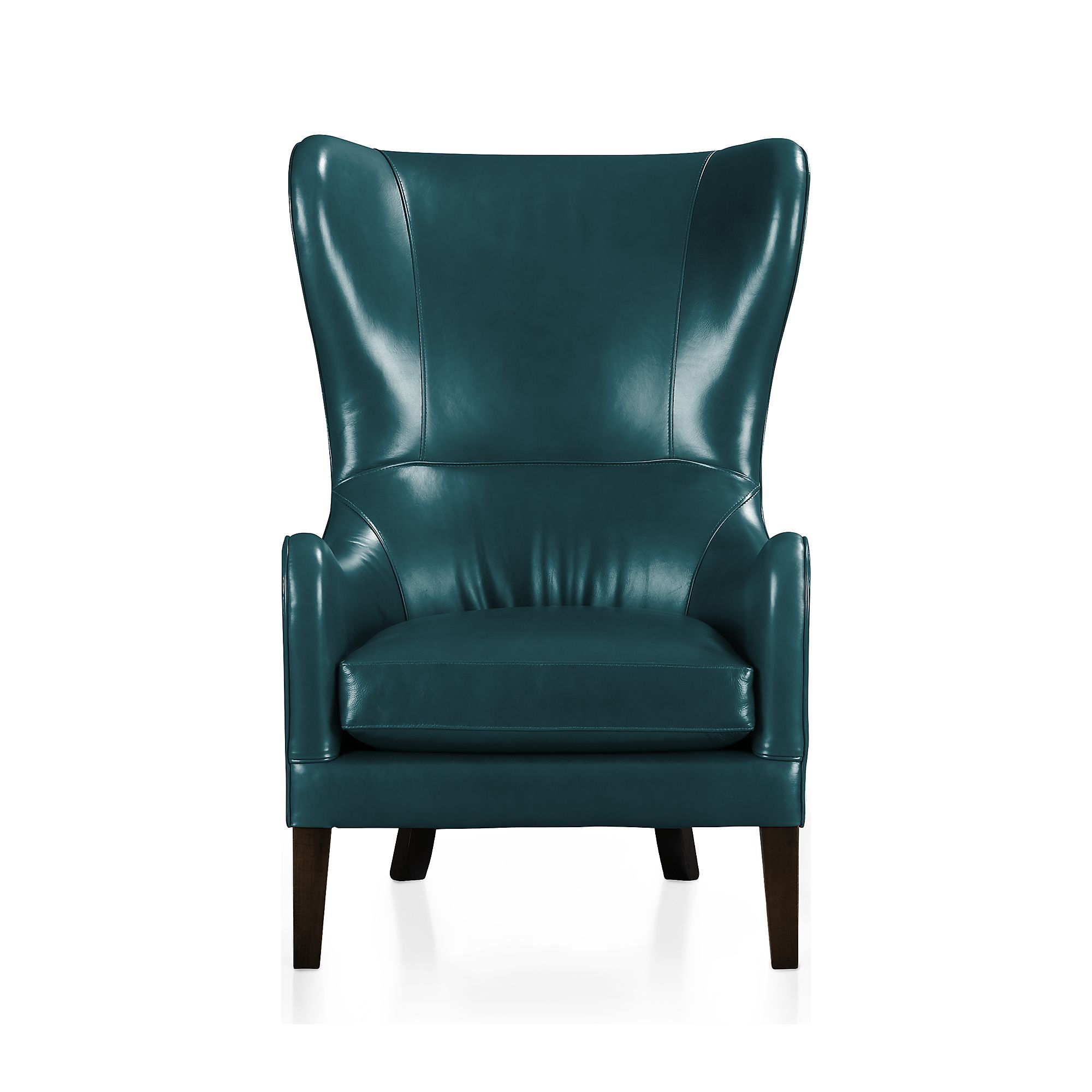 Shop Garbo Leather Wingback Chair.   Garbo exudes comfort with a generous deep seat and high back detailed with self-welting and distinctive French seams.
