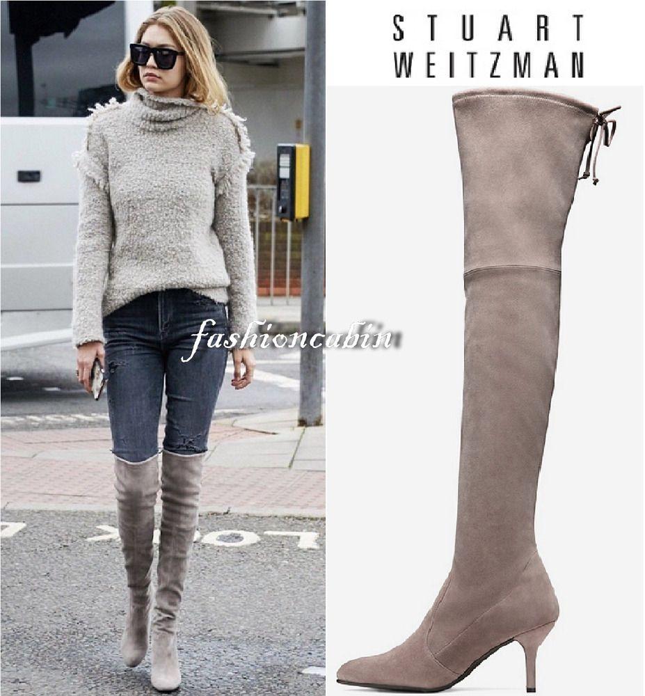 1d510fe9239 New Stuart Weitzman TIEMODEL Suede Over the Knee Boots