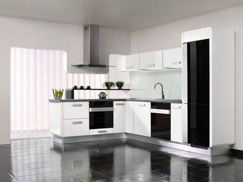 las cocinas blancas son compatibles con todos los estilos de decoracin y un acierto en la decoracion de cocinas ideas y fotos - Cocinas Blancas Y Negras