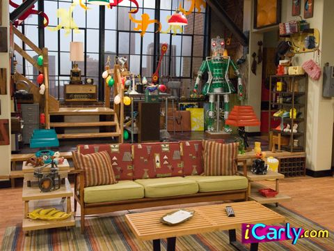 Carly and Spencer's living room. http://www.icarly.com/ (With ...
