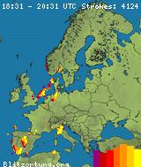 Real-Time Lightning Map :: LightningMaps org | Spain