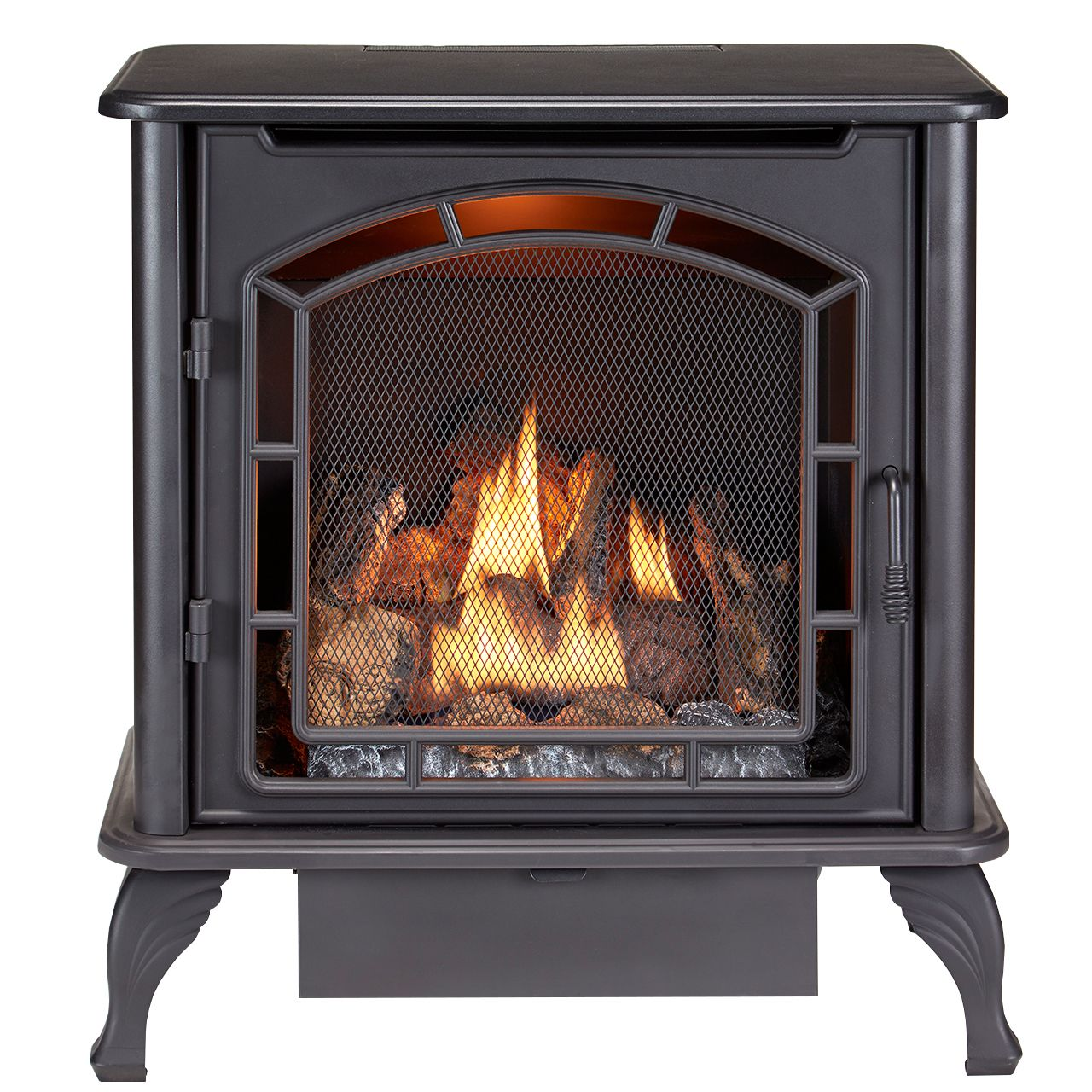 Duluth dual fuel ventless gas stove model df25sms