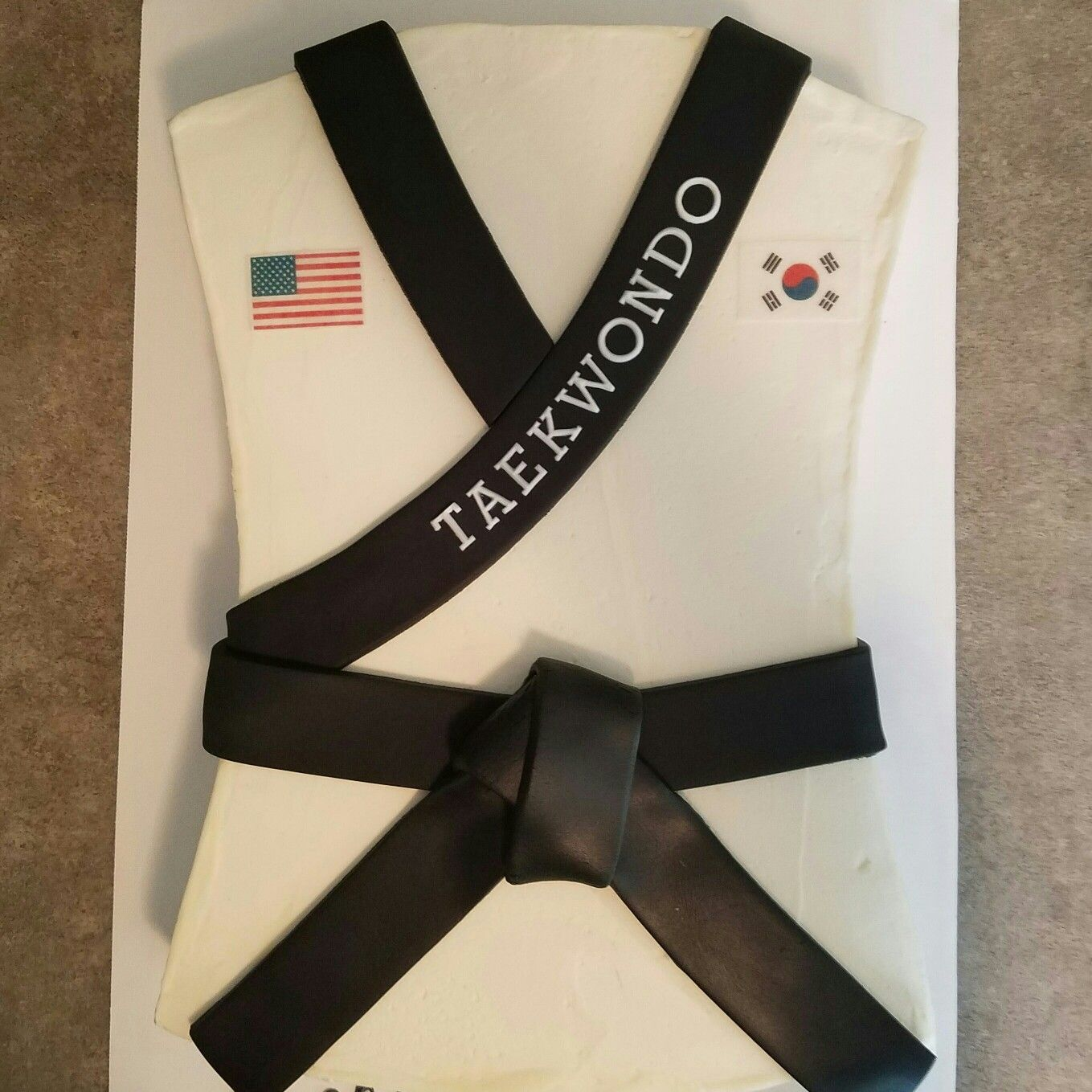 Taekwondo Black Belt Cake Like Us On Facebook At Gearhart Custom