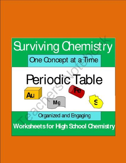Periodic Table Organized And Engaging Worksheets For High School