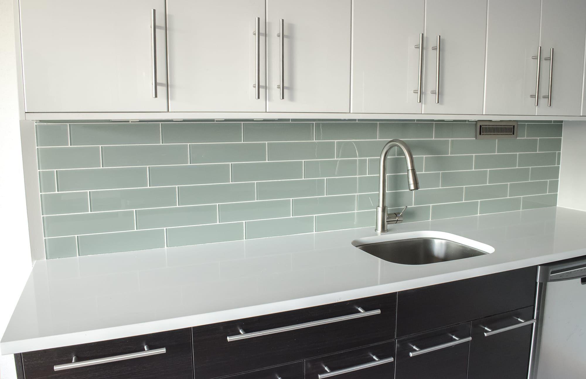 4x12 glass tiles for the backsplash