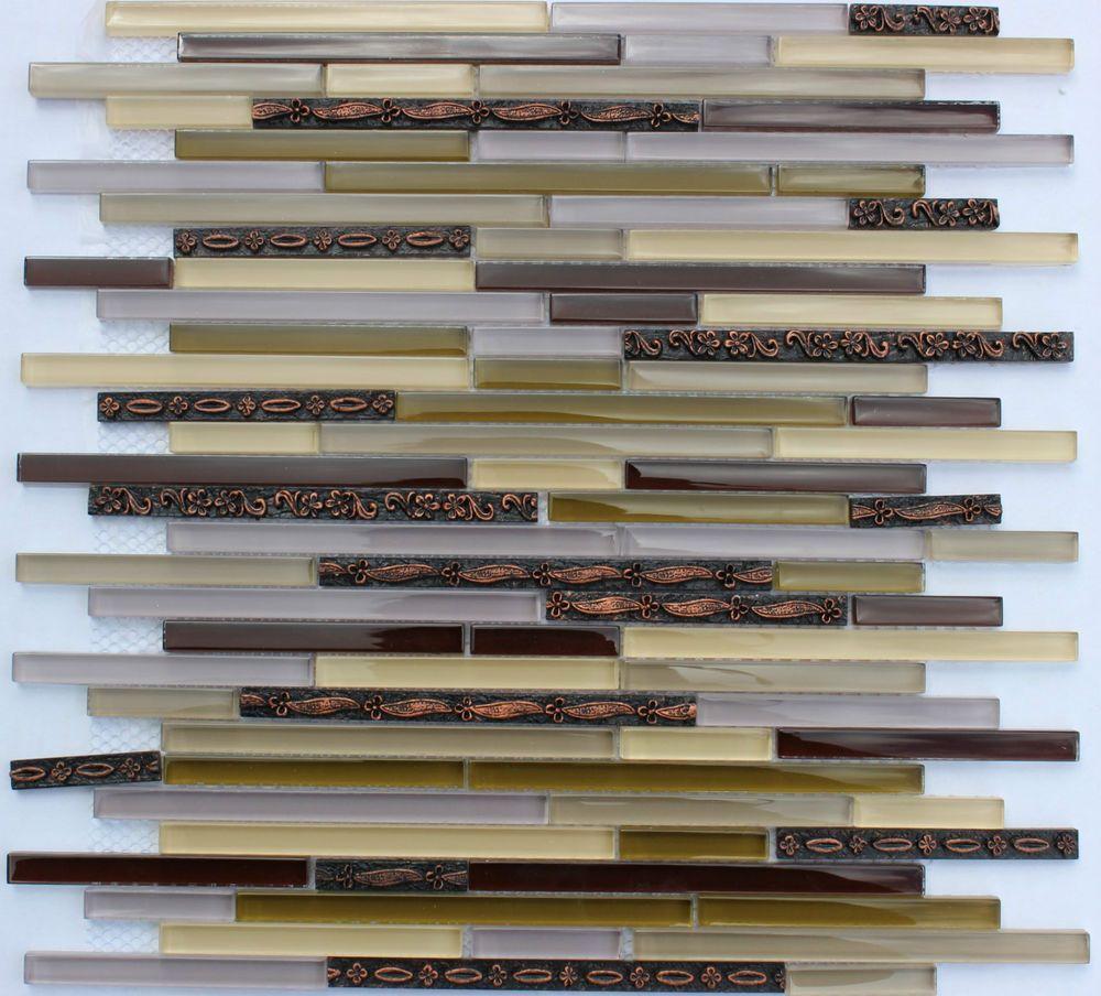 Purple Kitchen Backsplash Victoria Purple Brown Maroon Tan Glass Gold Vine Mosaic Tile