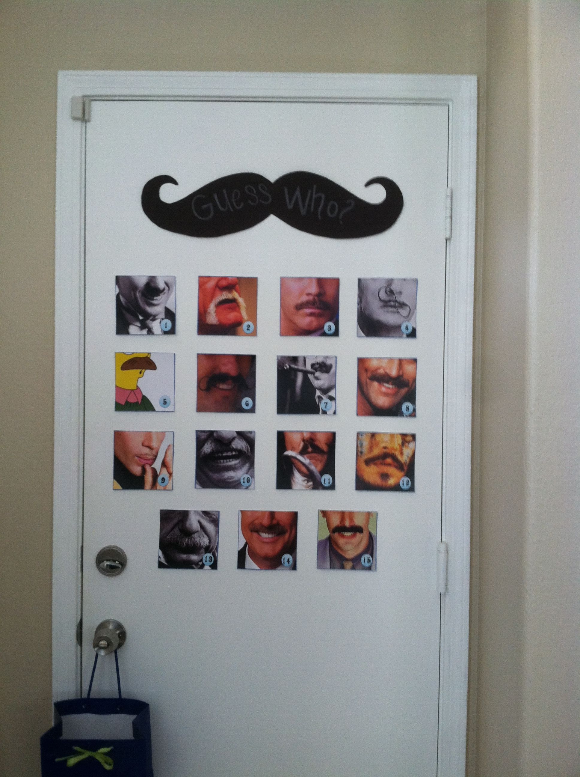 """Guess Who"" is wearing the Mustache game.  All famous people, a fun game."