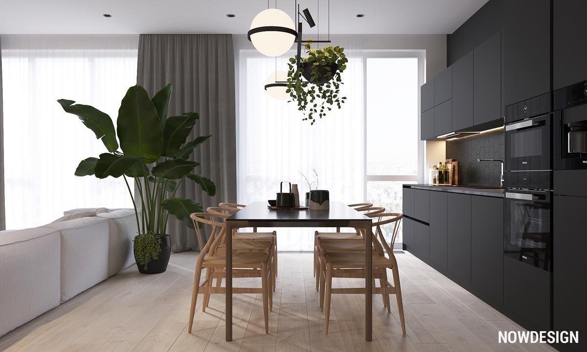 Minimalist Interior Design with Green Plant Accents ...