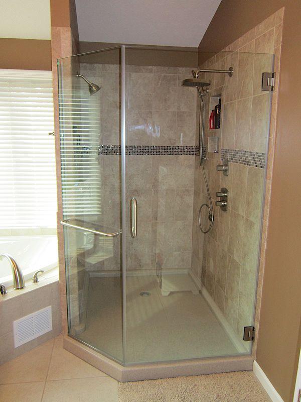 custom showers pro glass. Tile shower with custom onyx base  Onyx Showers Marcus Lumber