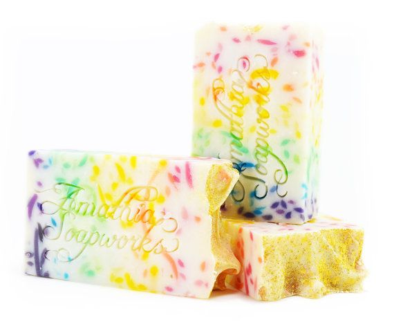 Full Spectrum Rainbow Shea Butter Soap Handcrafted Cold Process