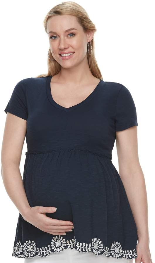 4e32f21873e46 Maternity a:glow Peplum Tee | Products | Pregnancy outfits ...