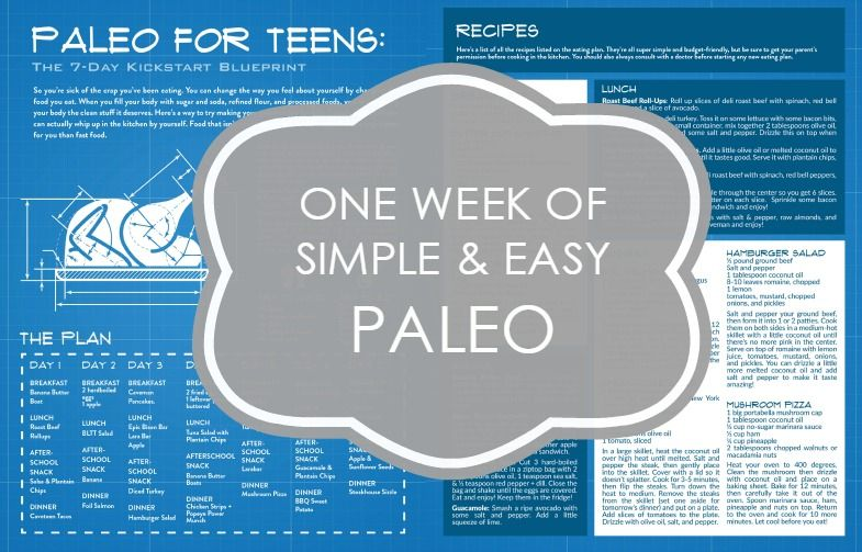 plans Free teens diet for