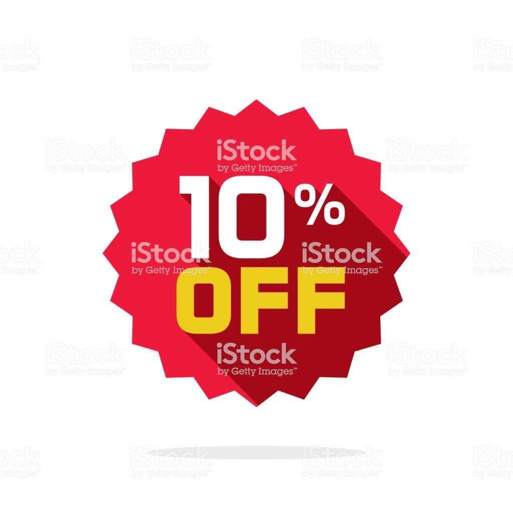 Sale Tag Vector Badge Template 10 Off Sale Label Symbol 10
