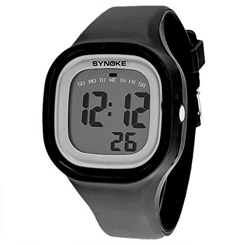 d86a9b363 Silvercell Women Sports LED Digital Silicone Band Waterproof Wrist Watch  Black