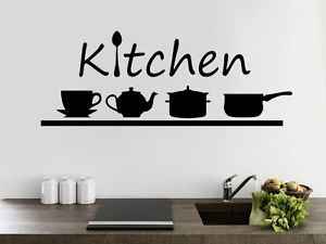 Wall Sticker Adesivi Murali Decorazioni CUCINA KITCHEN & ACCESSORI ...