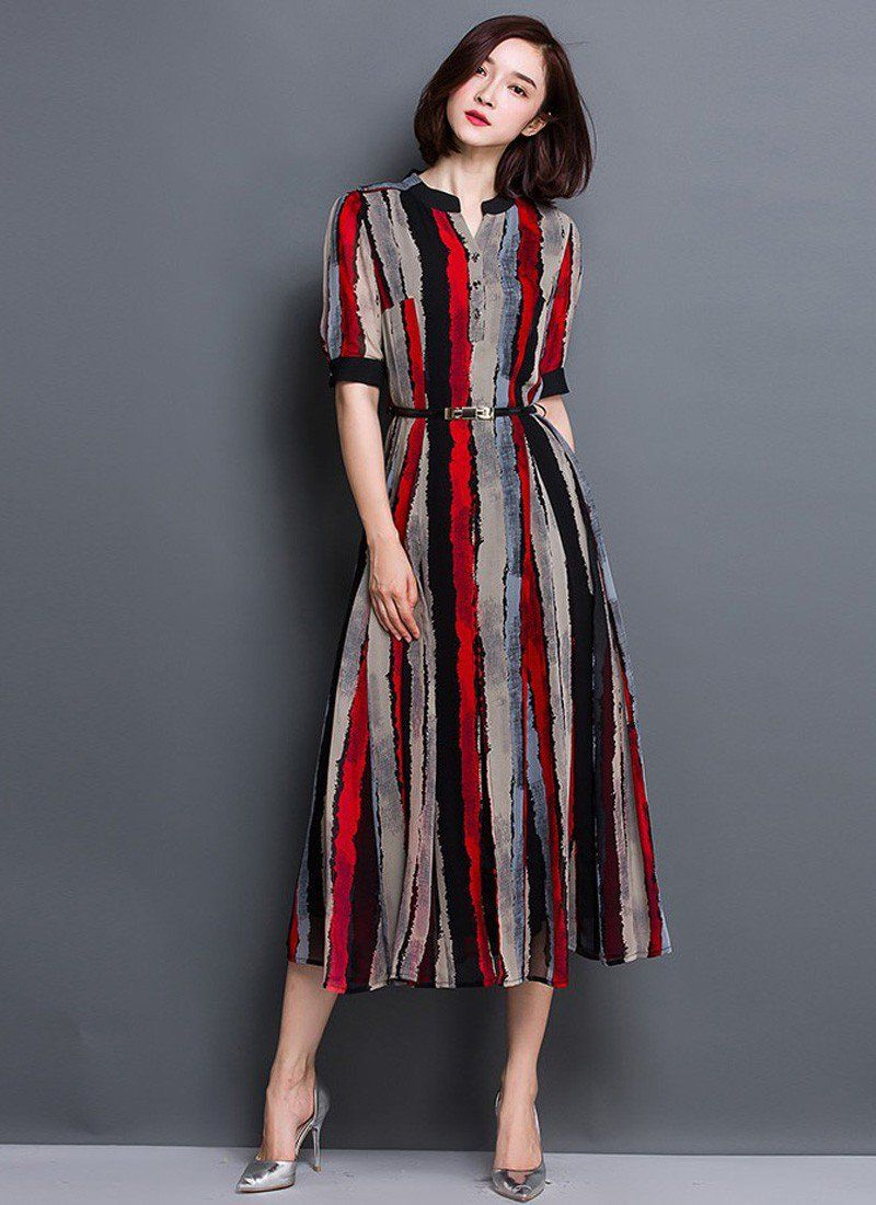 New Casual Faux Georgette Multi Color Indo Western Dress for Women. | Indo Western | Pinterest ...