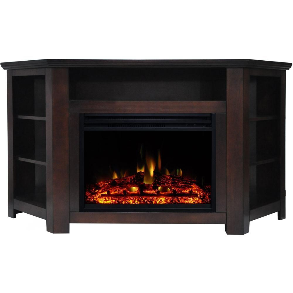 Cambridge Stratford 59 In Electric Fireplace Heater Tv Stand In