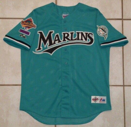722acabe9a8 Vintage MAJESTIC Florida Marlins 1997 World Series Jersey