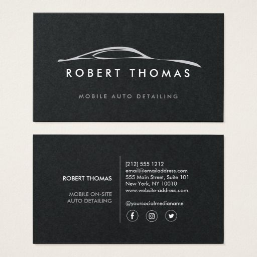 Auto Detailing Repair On Black Paper Business Card Zazzle Com Car Detailing Card Mechanic Visiting Card Design