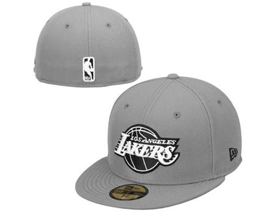Black New Era Casquette Fitted Homme Los Angeles Lakers 59Fifty Basic Collection