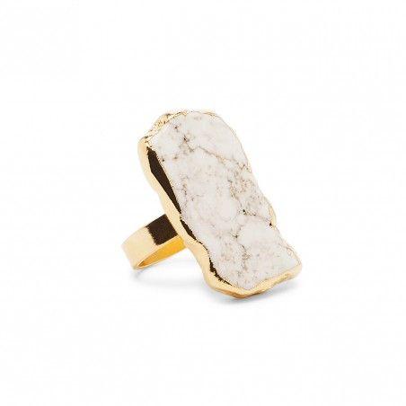 white Oversize Stone Ring