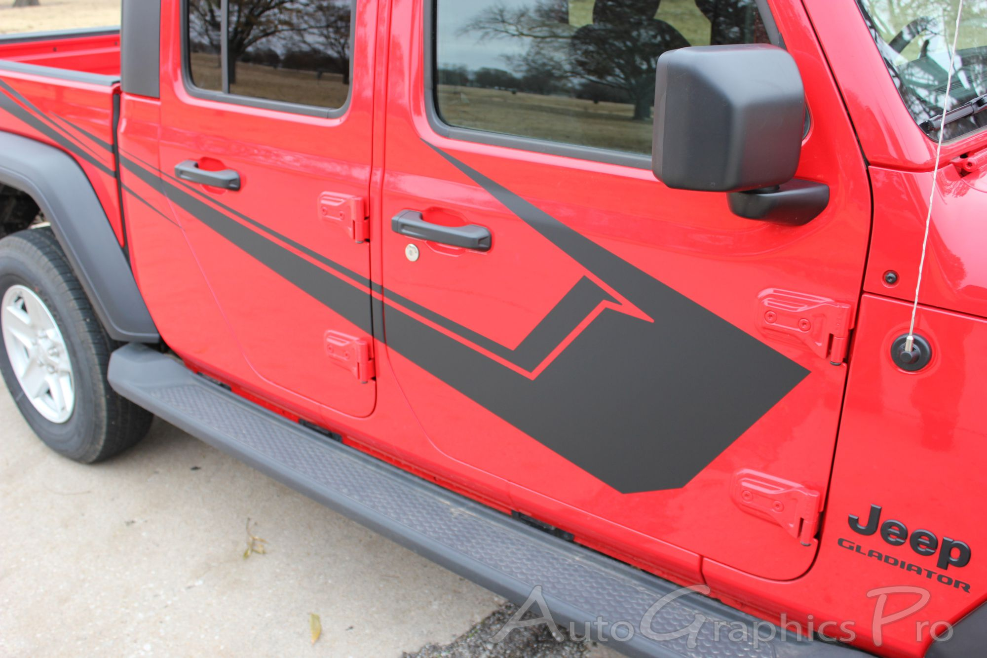 2020 Jeep Gladiator Side Body Vinyl Graphics Paramount Solid Color