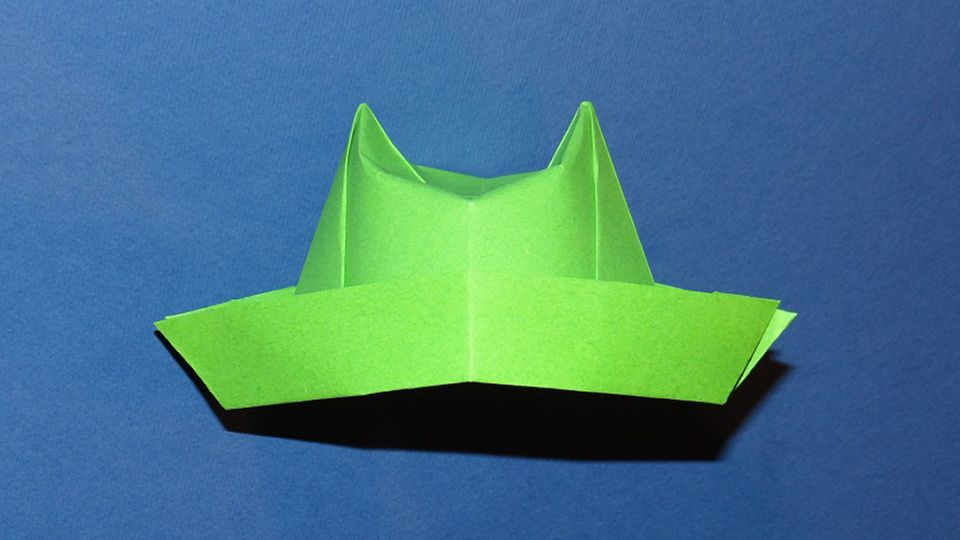 Phow To Make An Origami Hat Top Hat The Origami Top Hat Looks