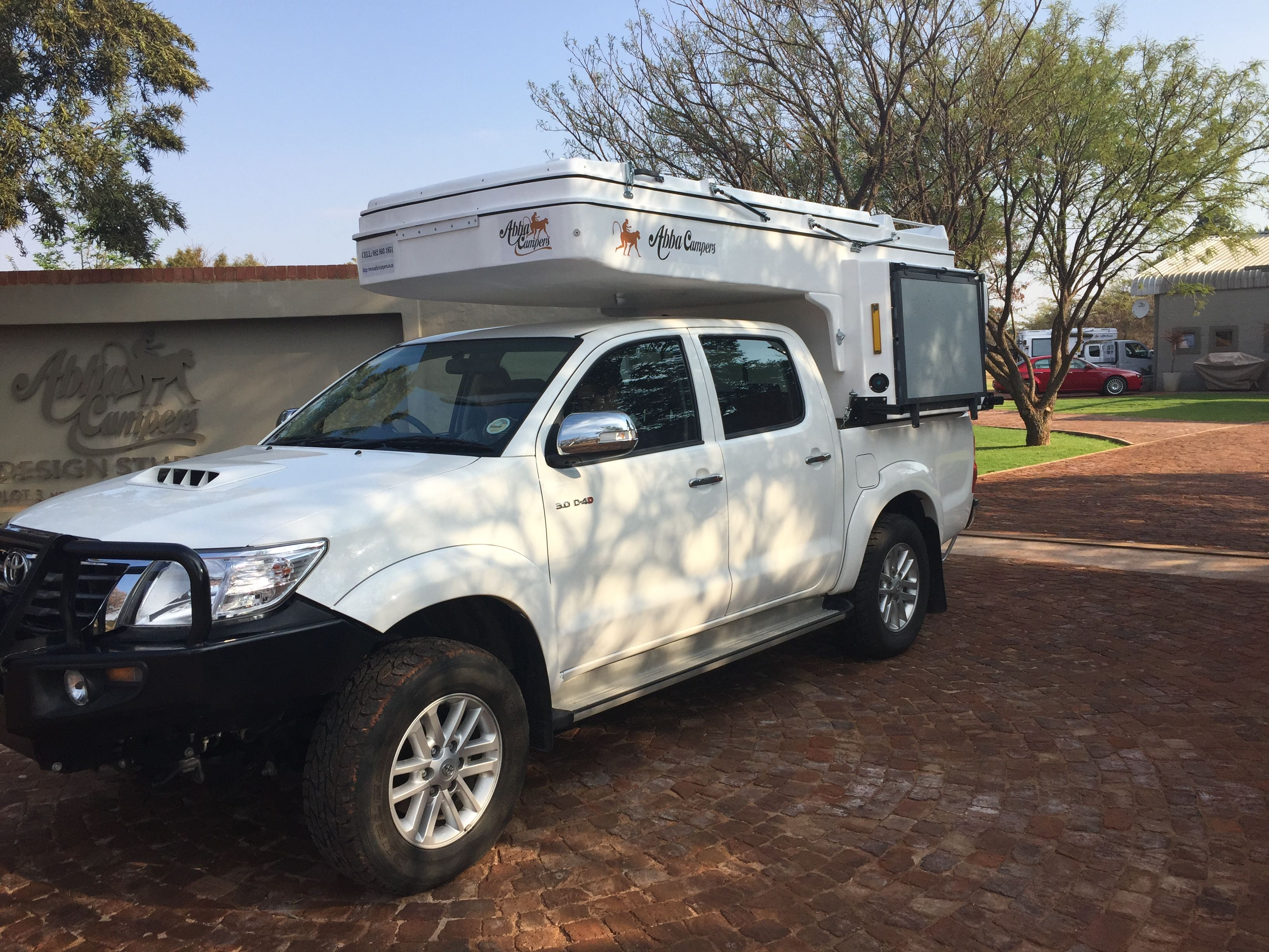 Abba camper compact unit on hilux double cab