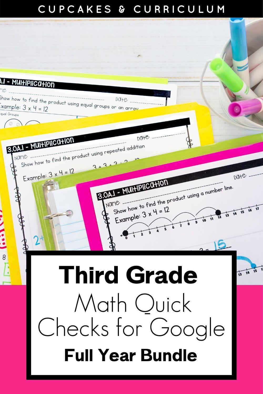Distance Learning Google Quick Checks Third Grade Bundle Third Grade Common Core Math Math Assessment Social Emotional Learning Activities [ 1500 x 1000 Pixel ]