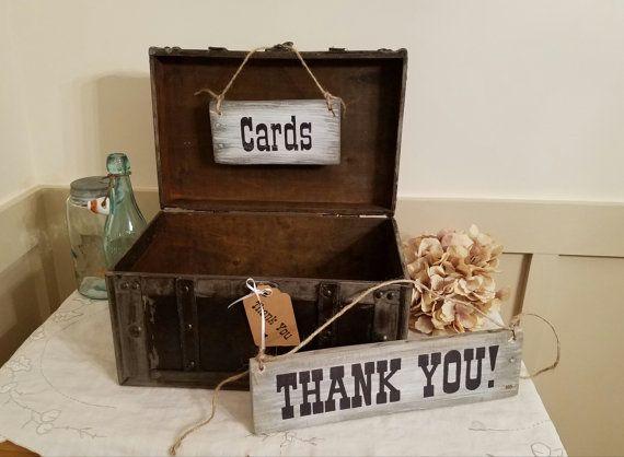 Wedding Card Box  Rustic Wedding Card Box  by TrashFindRedesigned