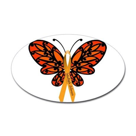 MS Awareness Butterfly Ribbon Decal on CafePress.com