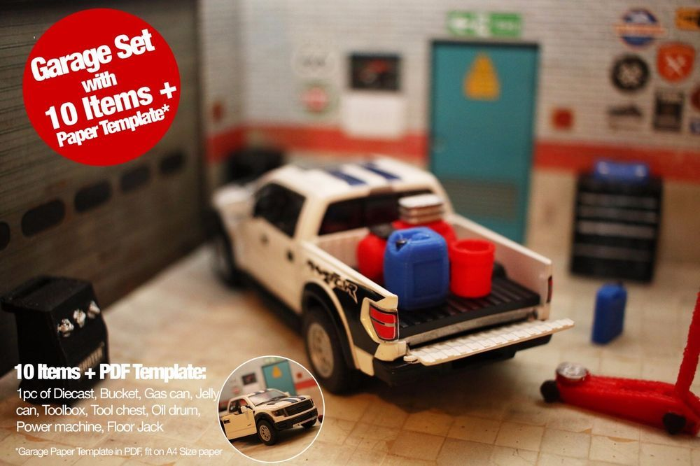 Ford F150 Diecast Pickup Truck Model Garage Diorama Accessory May Fit 1 24 1 36 Pickup Trucks Diecast Car Model