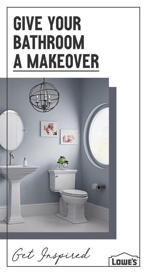 make your bathroom a sanctuary with the perfect pieces at lowe s rh pinterest es