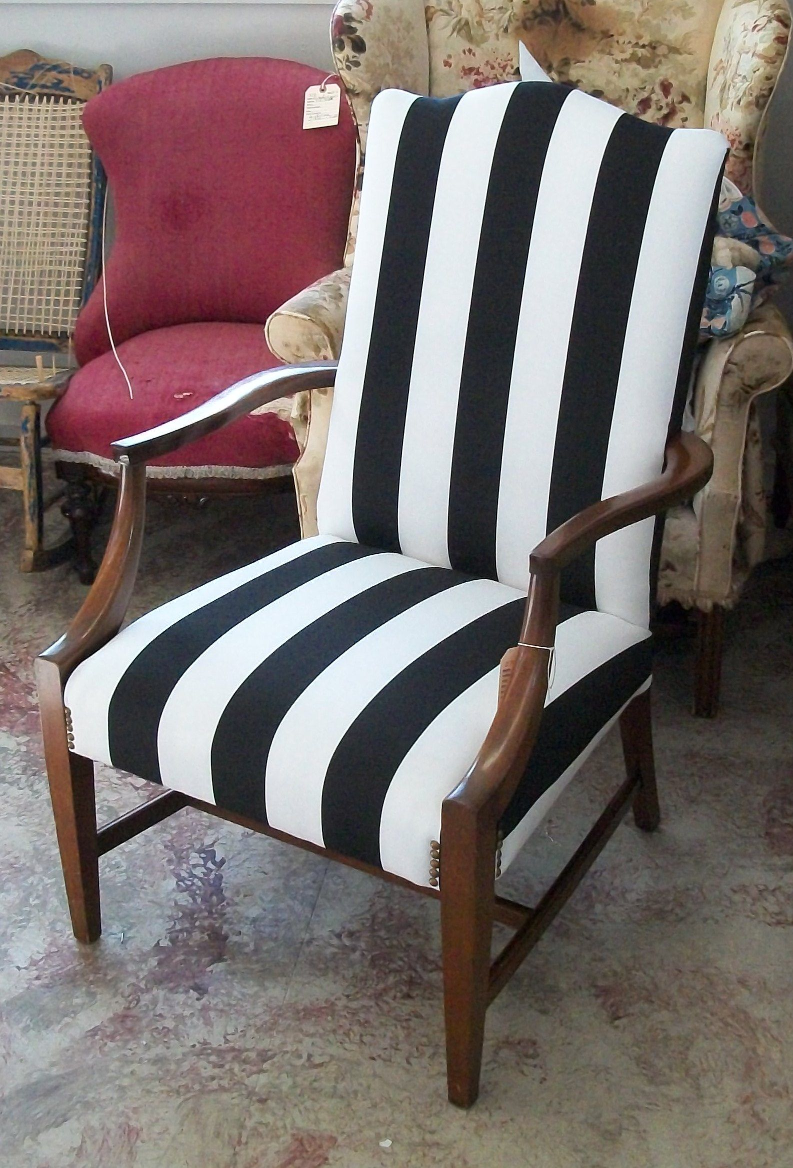 modern fabric on a traditional martha washington chair ravenwood rh pinterest com