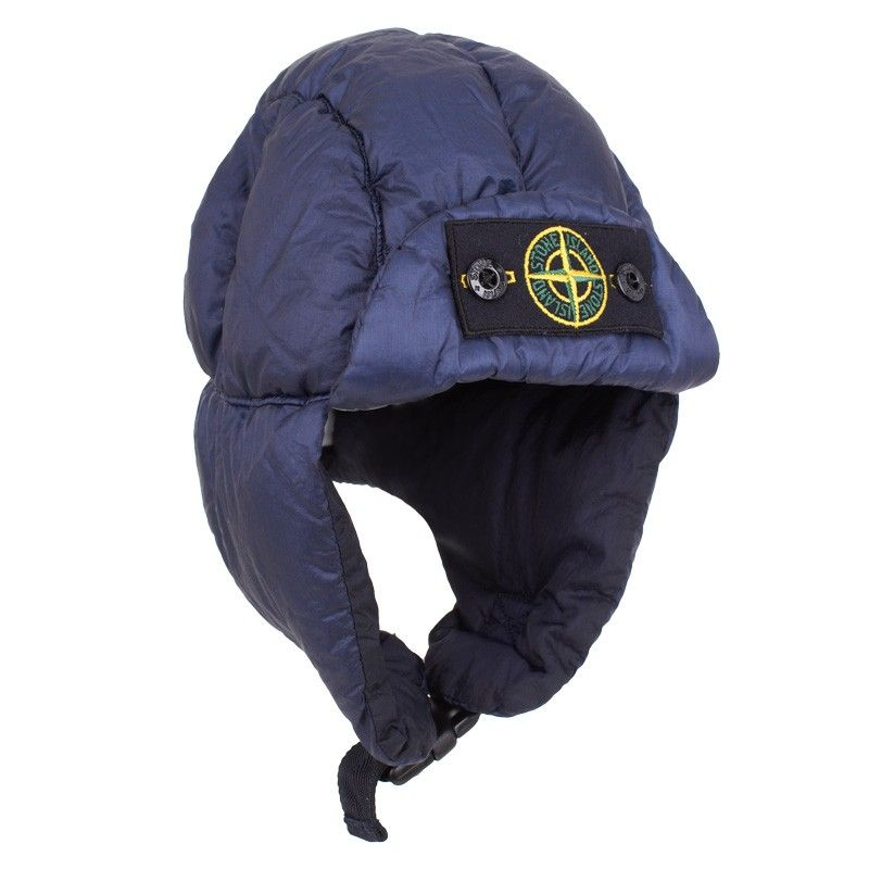 9adfefe9a Stone Island Navy Padded Trapper Hat   hats   Trapper hats, Stone ...