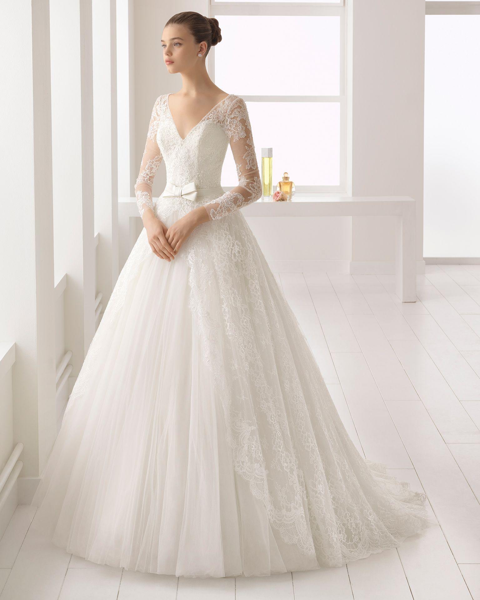 ab93e3314 Vestido de novia estilo romántico en tul