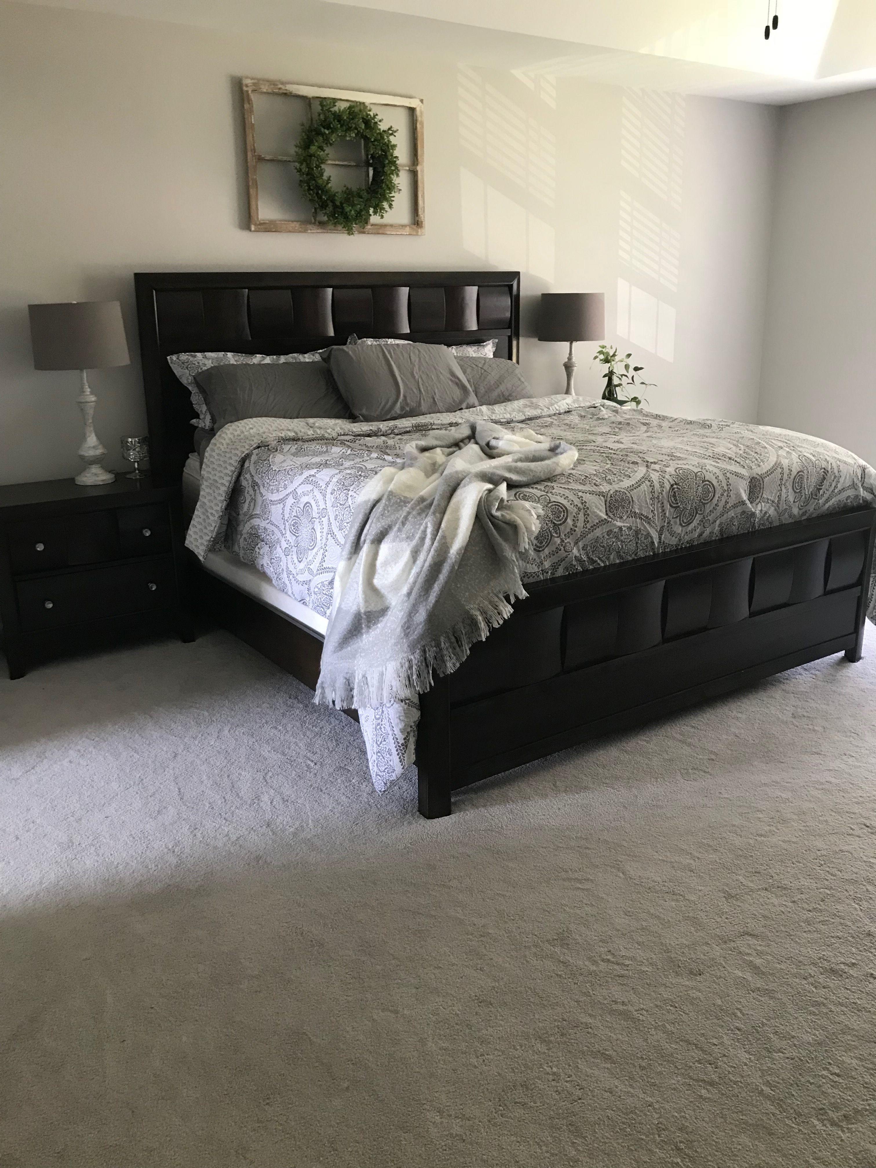 Master bedroom gray  master bedroom upgraded modern farmhouse repose gray on walls