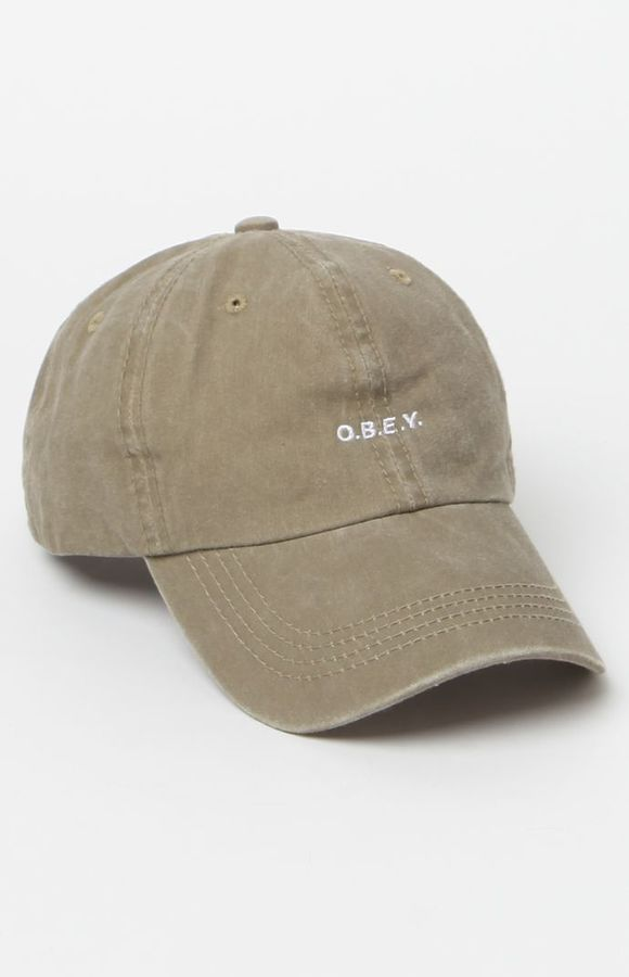 0112d91b7aa6 OBEY Sloppy Strapback Dad Hat