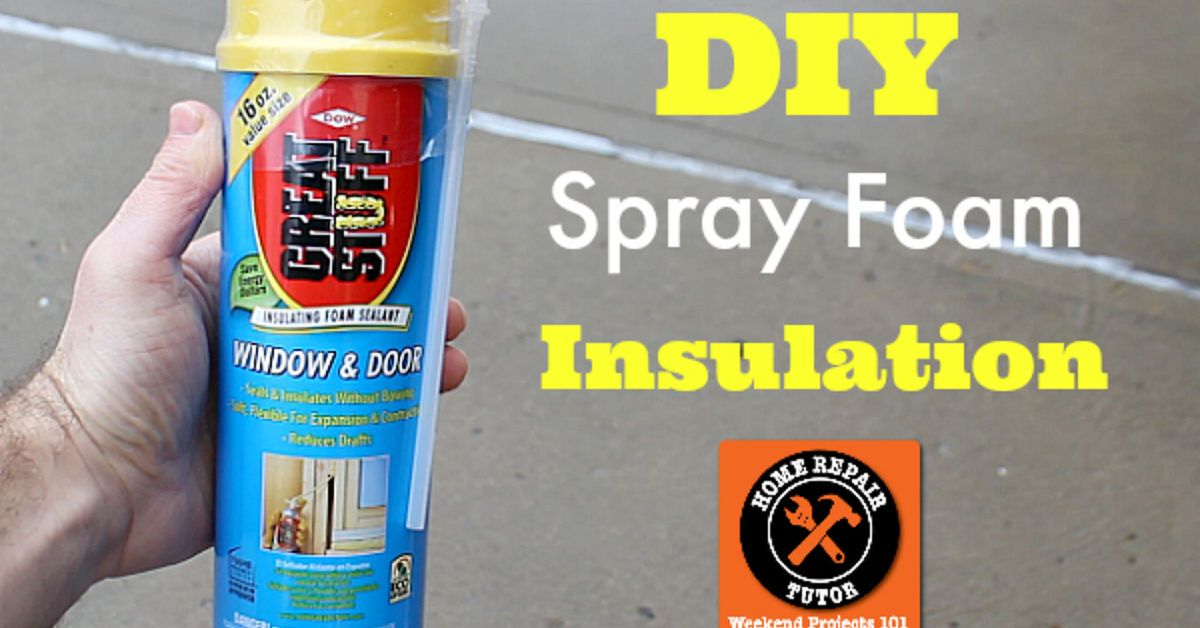 Diy spray foam insulation plus 2 other tips to stay