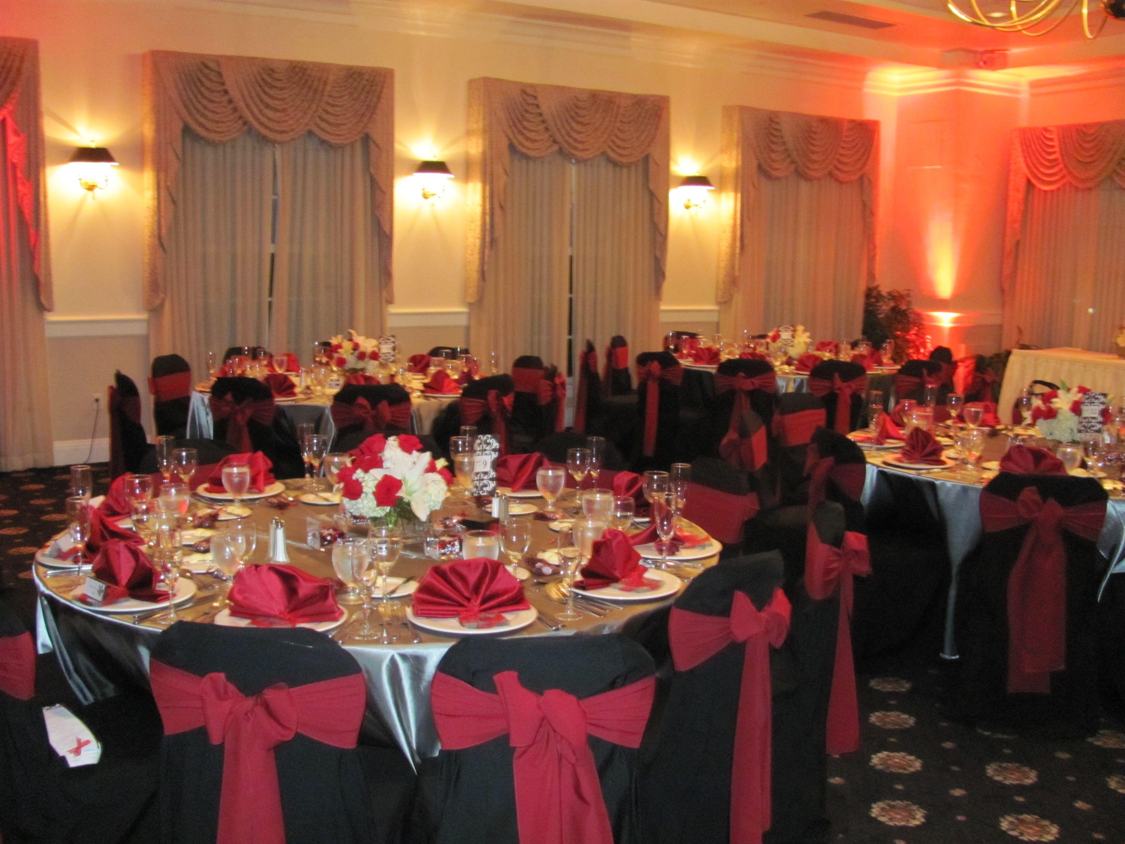 Wedding decorations red  Red and Black Wedding Decor  Julie Pins  Pinterest  Wedding