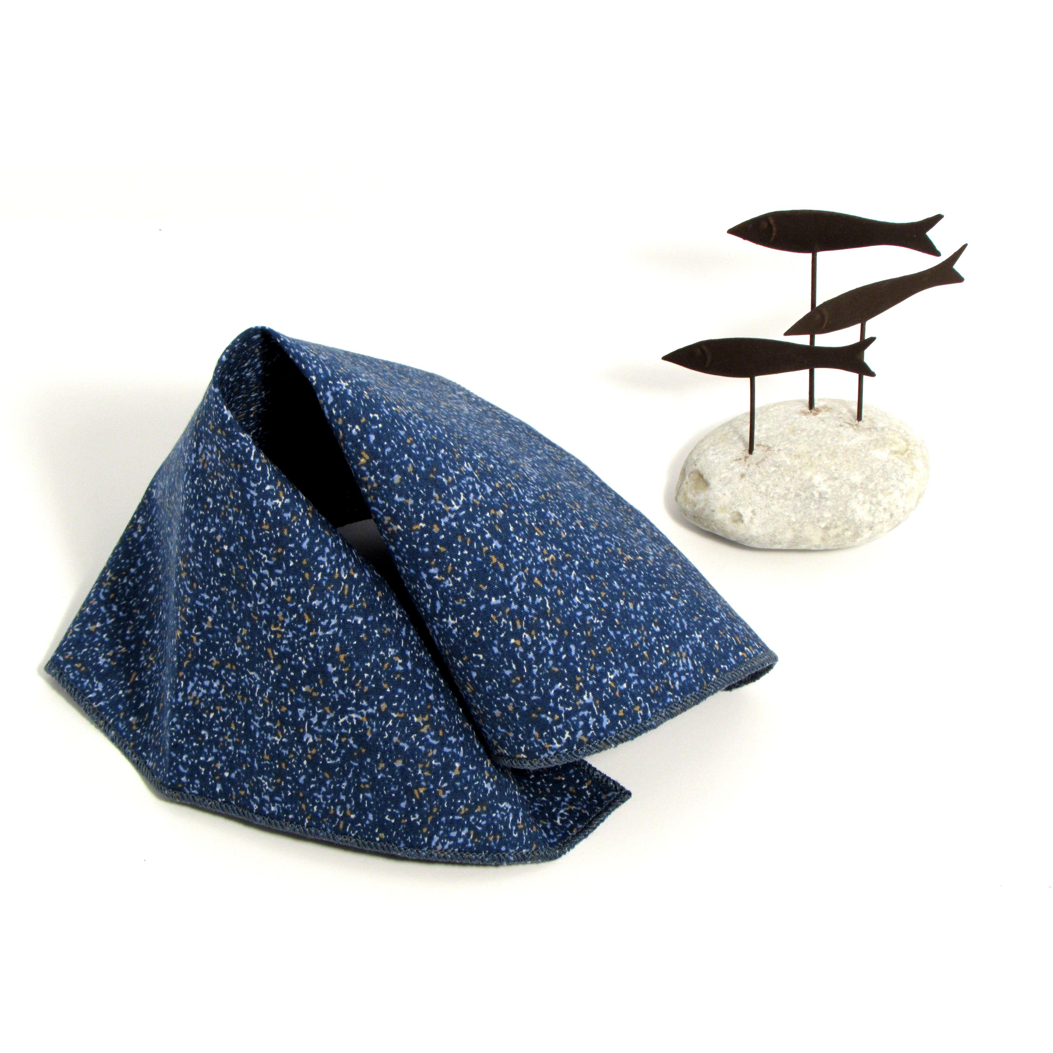 Pocket Square Sea, 100% cotton, a exlcusive edition