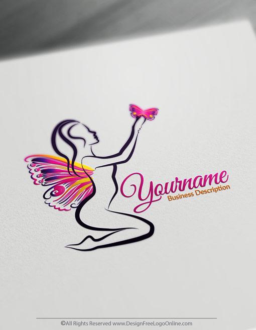 Create Beauty logo ideas instantly using Butterfly Lady