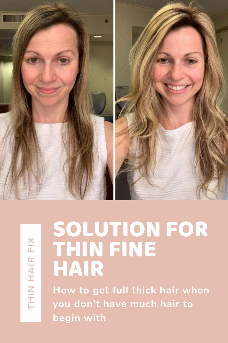 How To Make Thin Hair Look Thicker Thin Hair Styles For Women First Thyme Mom Thick Hair Remedies Hairstyles For Thin Hair Full Thick Hair