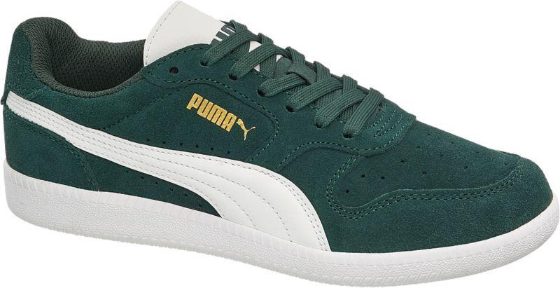 Der Sneaker von Puma zeigt sich in einem intensiven Tannengrün Er ist aus  einer Material Kombination aus Synthetik und Leder gefertigt und innen mit  ... 412cc5e5e7