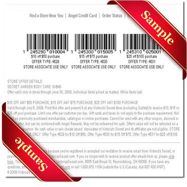 This is a picture of Nerdy Victoria Secret Coupon in Store Printable
