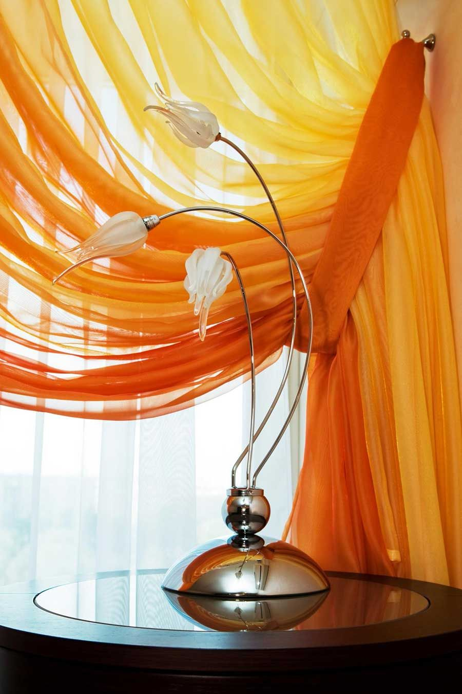 cortinas naranjas para ambienes