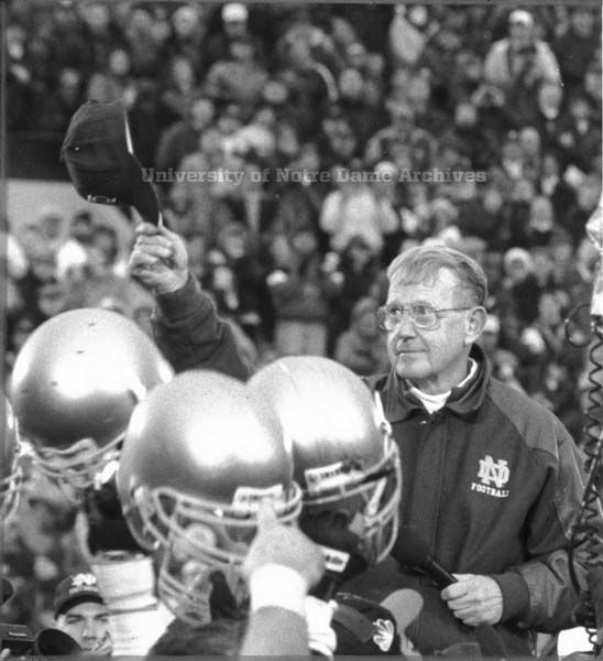 Lou Holtz Final Home Game As Nd Coach Nd Stadium Nd Vs
