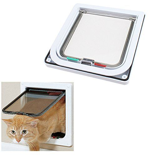 Namsan 4 Way Cats Puppy Doggie Small Dog Glass Door Pet Screen Door  Protector White 63