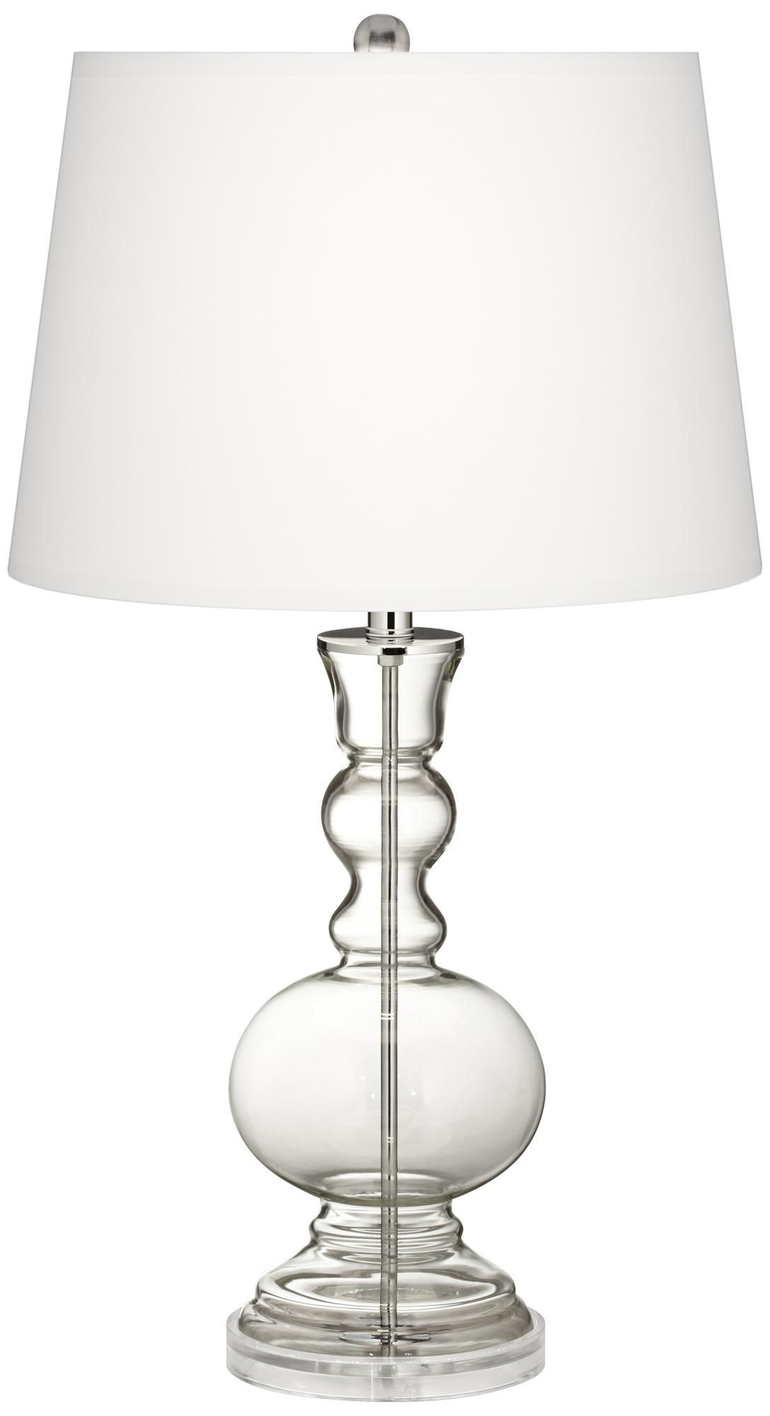 fillable clear glass apothecary table lamp white table lamp white. Black Bedroom Furniture Sets. Home Design Ideas